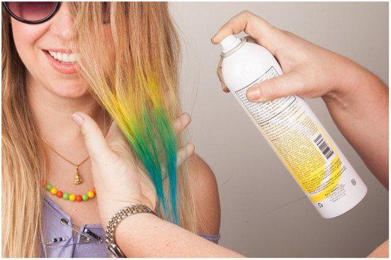 chai xịt nhuộm tóc tạm thời