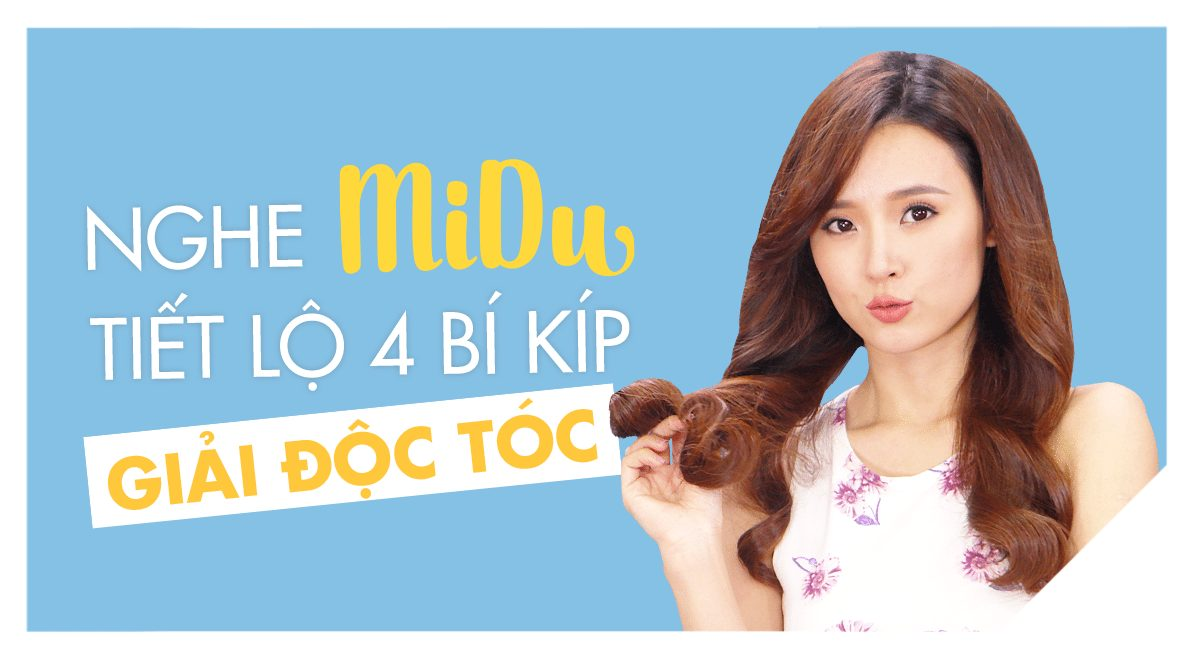Nghe Midu tiết lộ4 bí quyết thải độc tóc không phải ai cũng biết