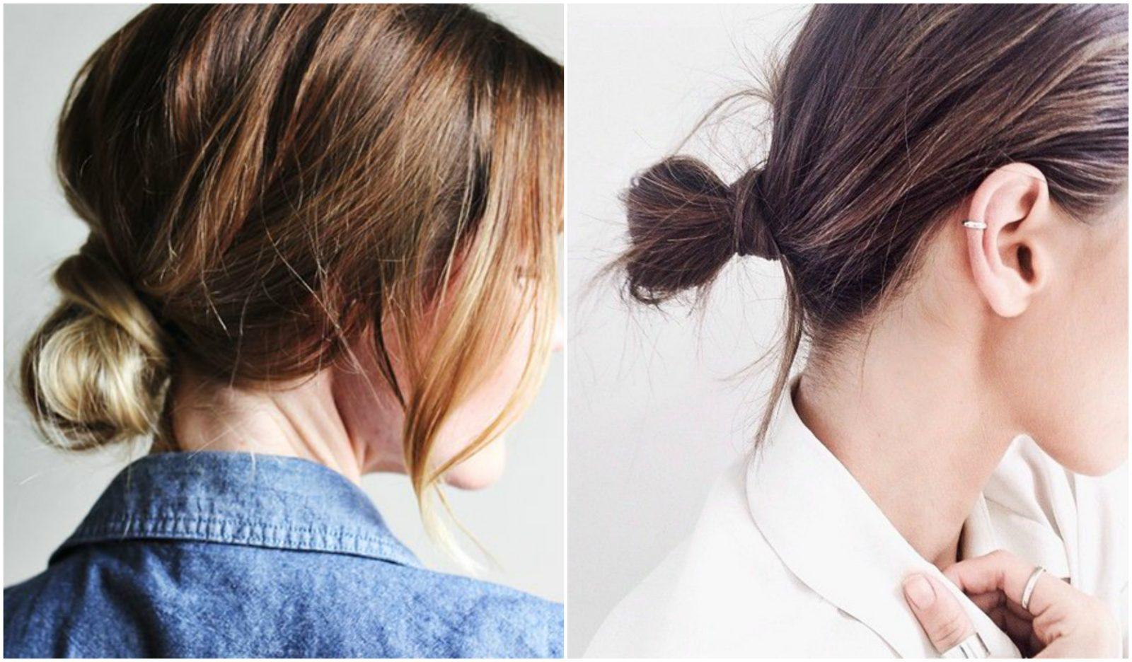 tóc búi thấp