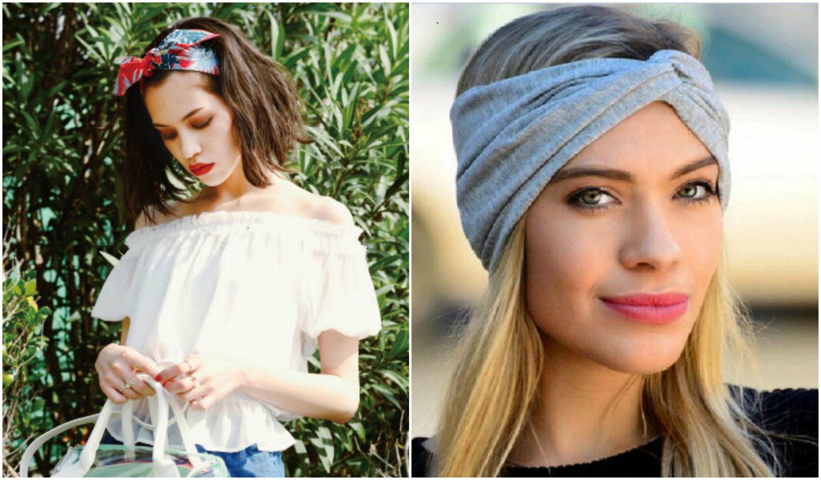 cột tóc với khăn turban