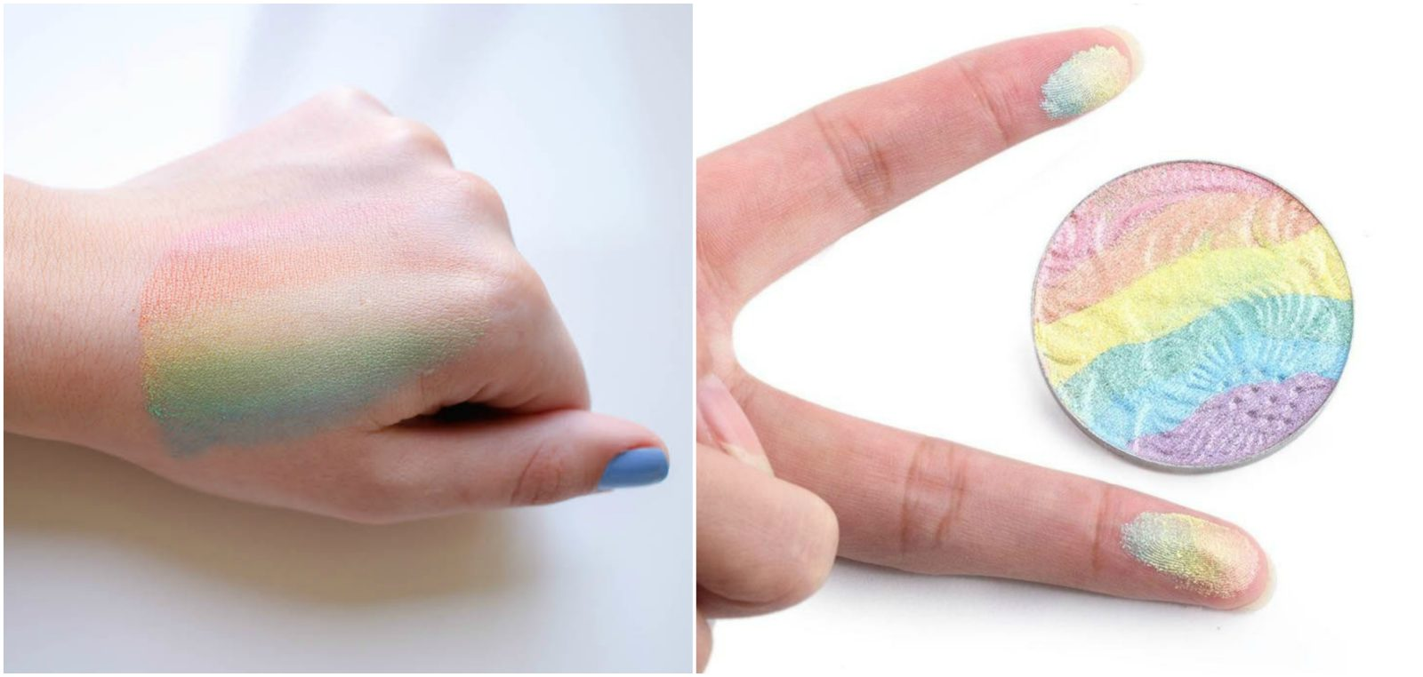 swatch phấn highlight cầu vồng PRISM