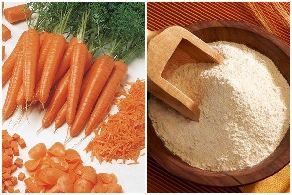 mặt nạ ngăn ngừa lão hóa từ cà rốt