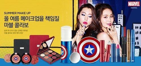 bộ trang điểm The Face Shop x Marvel