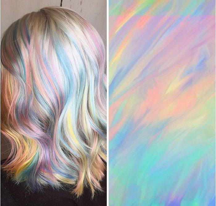 màu tóc nhuộm 3D Holographic