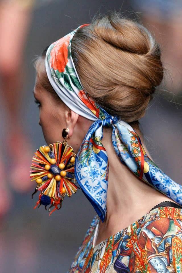 tạo kiểu tóc với khăn
