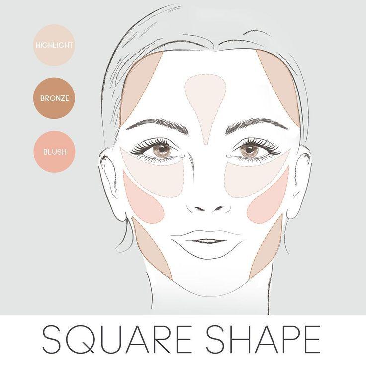 Cách đánh má hồng cho khuôn mặt vuông