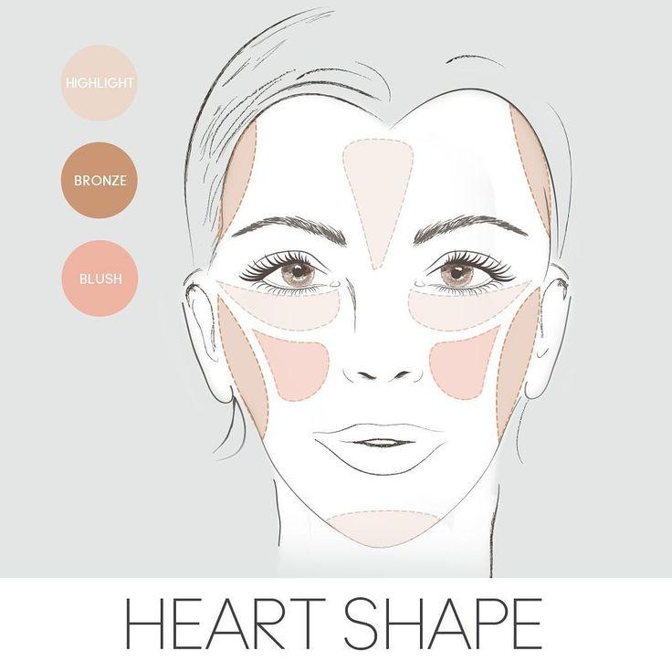 Cách đánh má hồng cho khuôn mặt trái tim