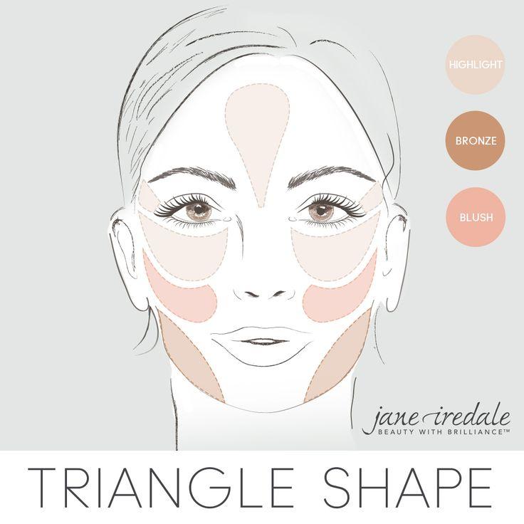 Cách đánh má hồng cho khuôn mặt tam giác