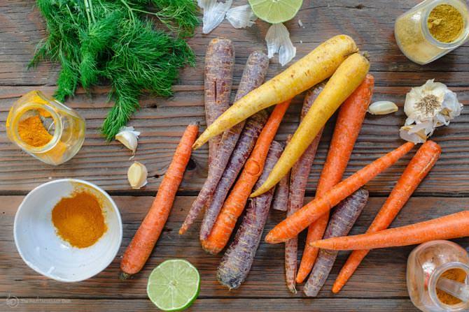 Tinh dầu chanh và cà rốt