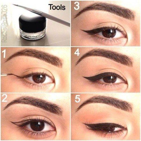 Từng bước kẻ eyeliner đơn giản