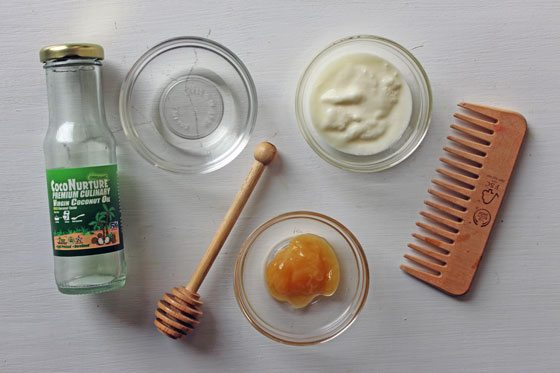 mặt nạ ủ tóc từ sữa chua
