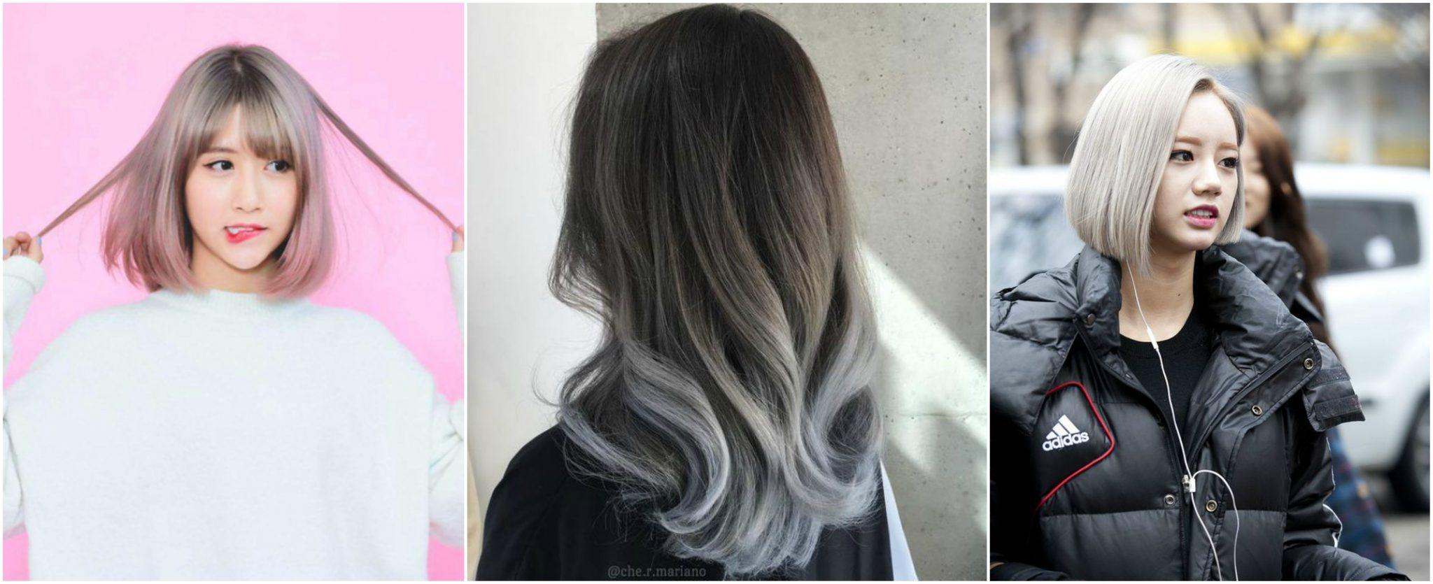 Màu tóc khói đẹp - màu tóc đẹp 2019