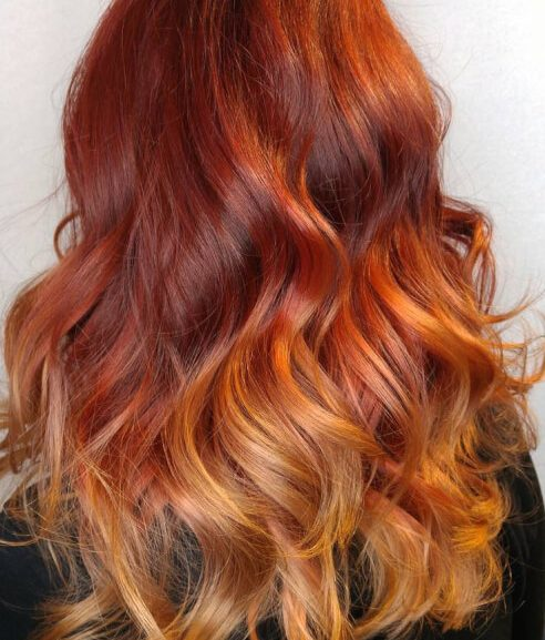 nhuộm tóc ombre