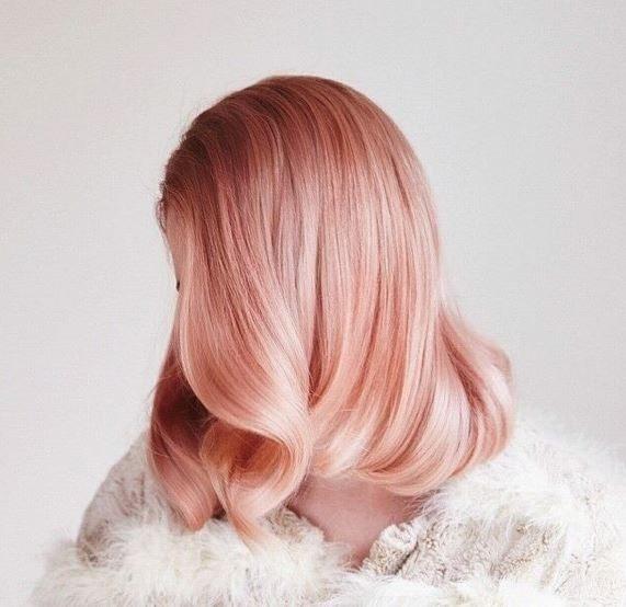 Tóc nhuộm đẹp hồng vàng