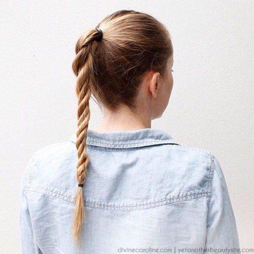 cách tết tóc vặn thừng