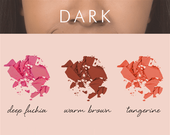 màu má hồng với tông da tối