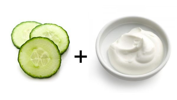 Dưa leo sữa chua là một cách dưỡng da bằng sữa chua