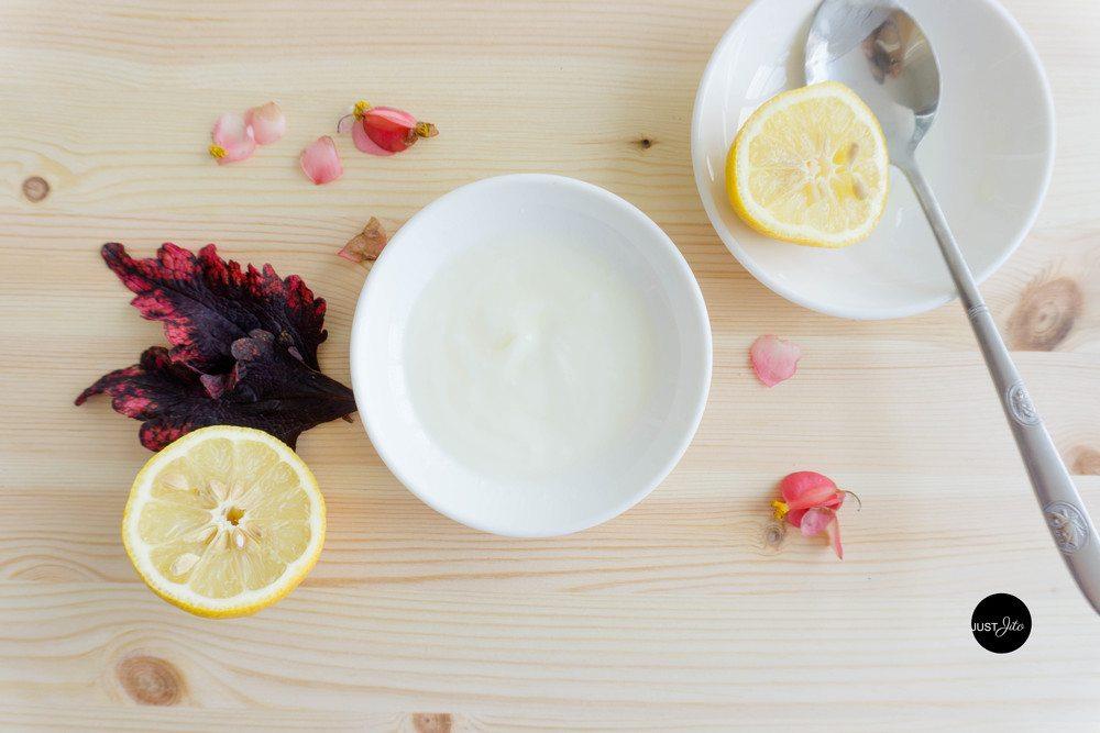 Chanh và sữa chua là một cách dưỡng da bằng sữa chua