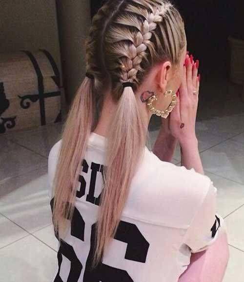 gợi ý kiểu tóc thắt bím cá tính