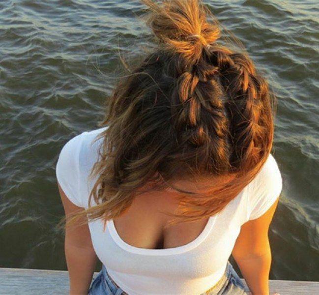 kiểu tóc bím mái cực đơn giản