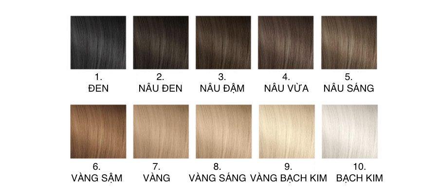 Cách đọc thông số bảng màu nhuộm tóc - Mức độ đậm nhạt
