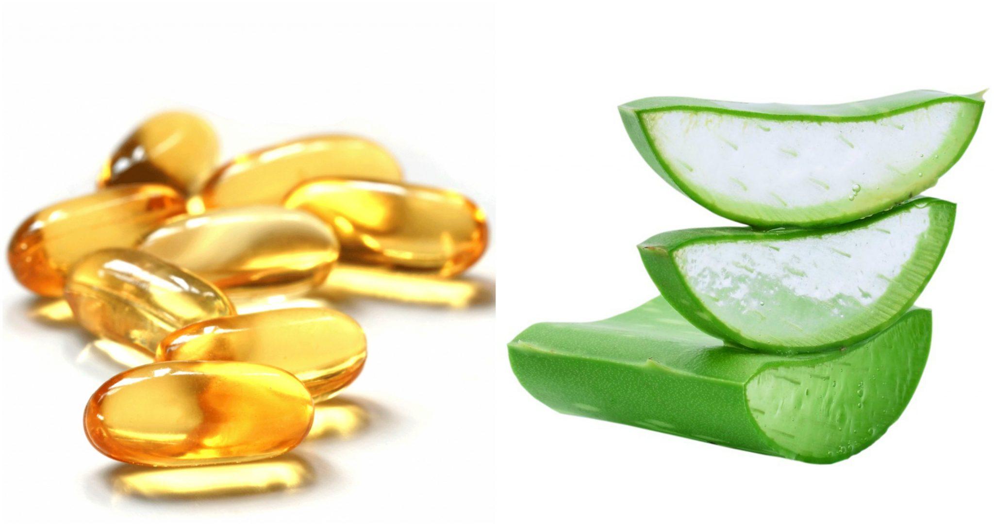 cách làm mặt nạ vitamin E với nha đam