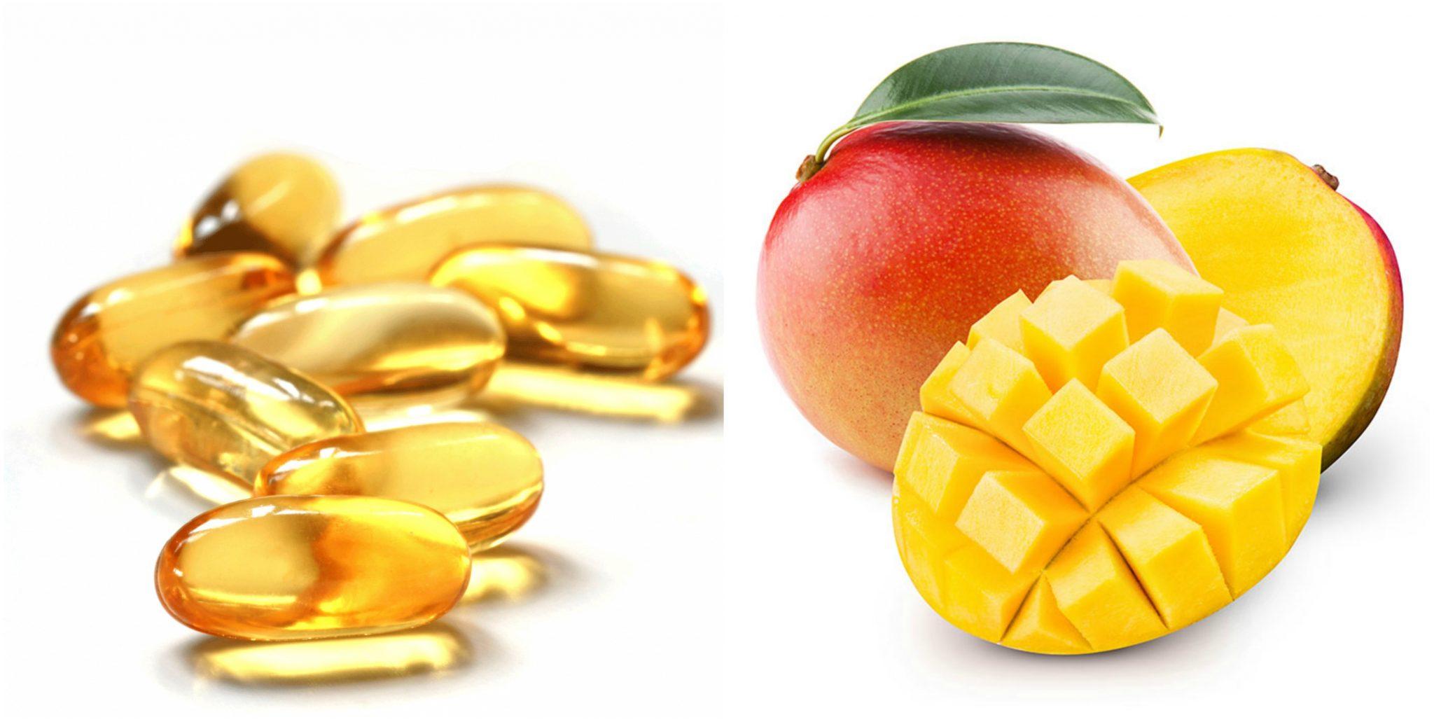 cách làm mặt nạ vitamin E và xoài