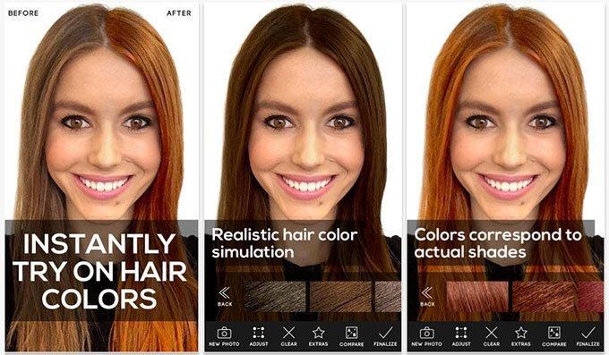 phần mềm thay đổi màu tóc