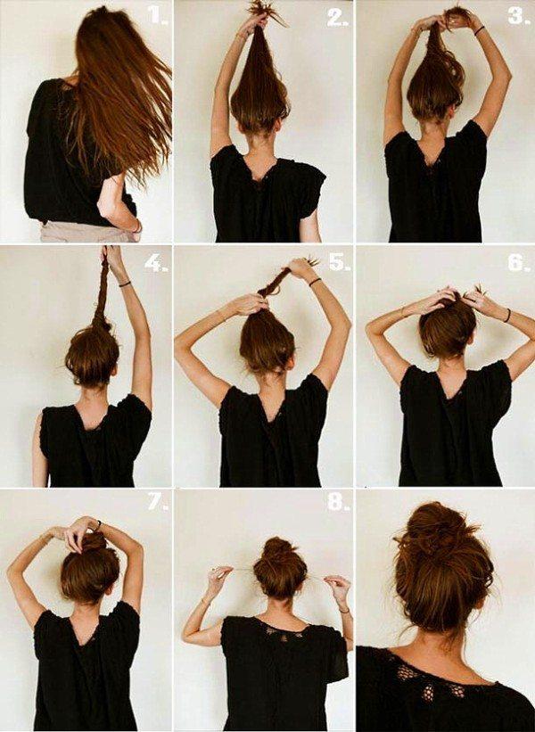 cách búi tóc cuộn