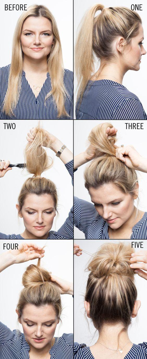 búi tóc rối cá tính