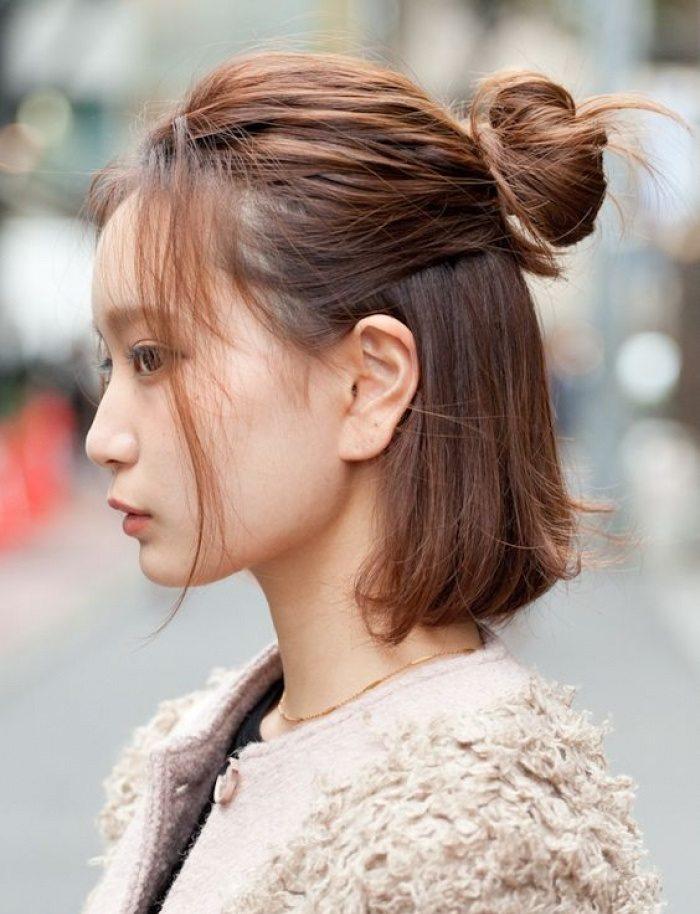 búi tóc một nửa là cách búi tóc đẹp