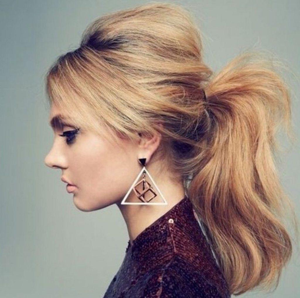 tóc buộc cao đánh rối