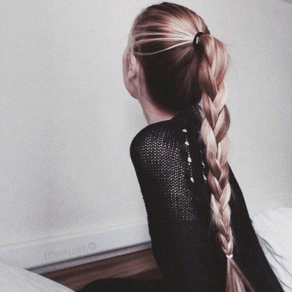 tóc buộc cao kết hợp tết đuôi