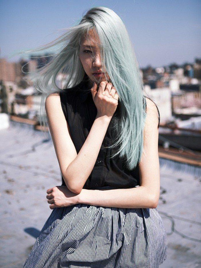 tóc thẳng ngang lưng phủ màu