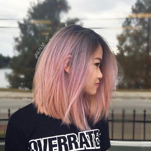tóc ngang lưng phủ màu