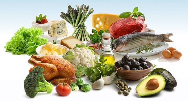 thực phẩm của chế độ ăn kiêng DAS