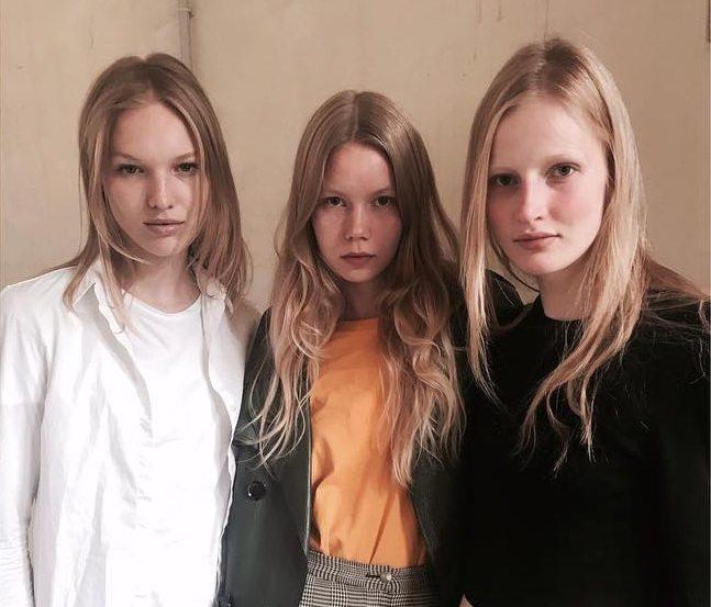 Những nàng mẫu trong show của Maison Margiela