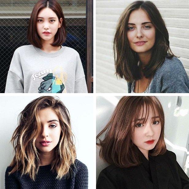 kiểu tóc cho tóc mỏng trán cao
