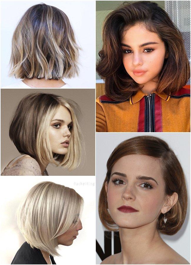 kiểu tóc ngang vai cho mặt tròn