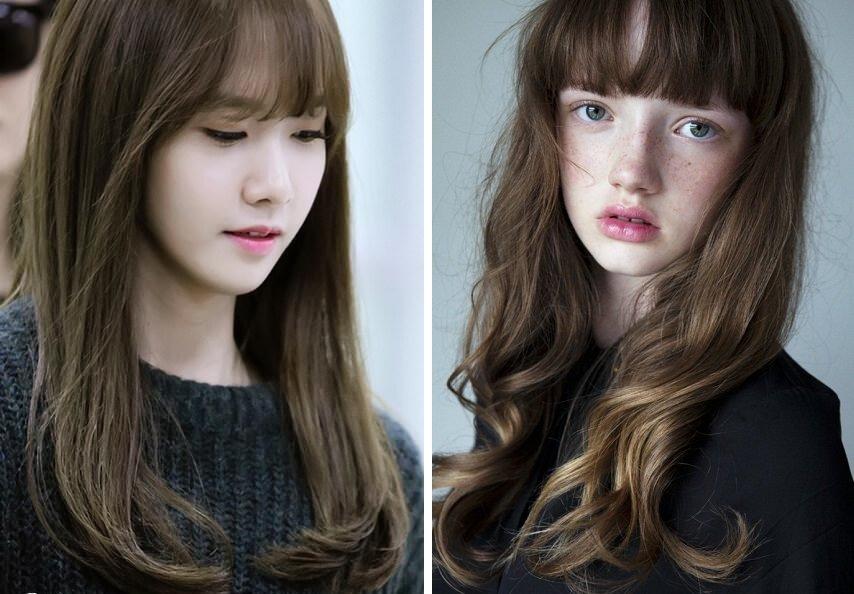 nhuộm tóc màu rêu nâu