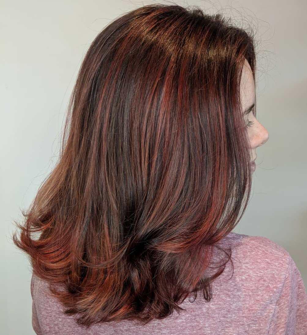 Highlight màu nâu đỏ