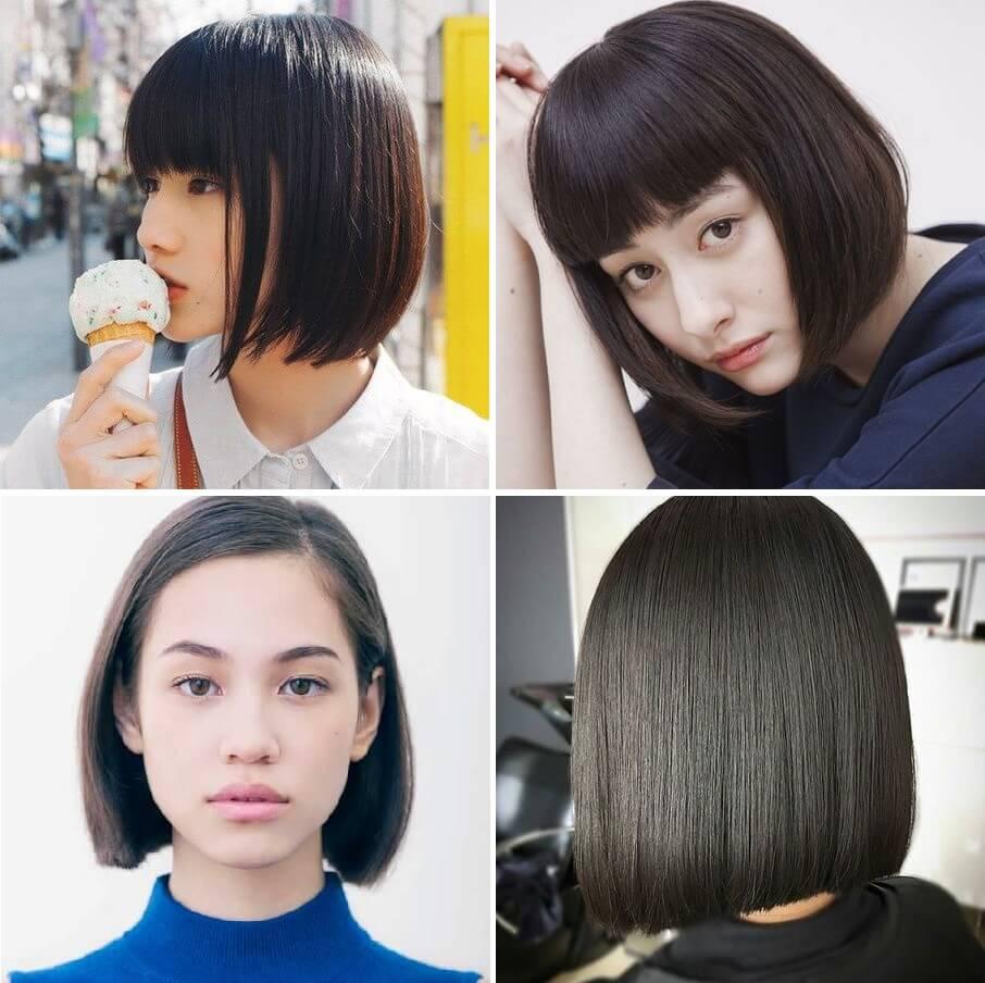 Tóc Nhật ngắn thẳng truyền thống