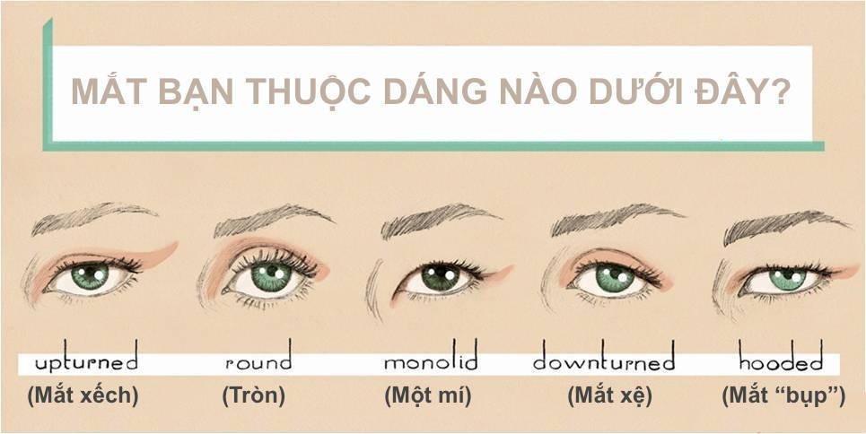 nguyên tắc phối màu mắt