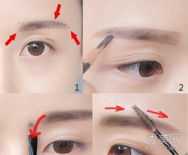 Cách vẽ lông mày ngang bằng bút chì