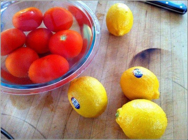 Mặt Nạ Trắng Da từ cà chua và chanh