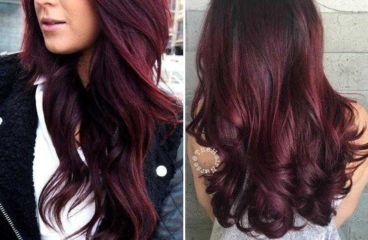 tóc màu rượu vang