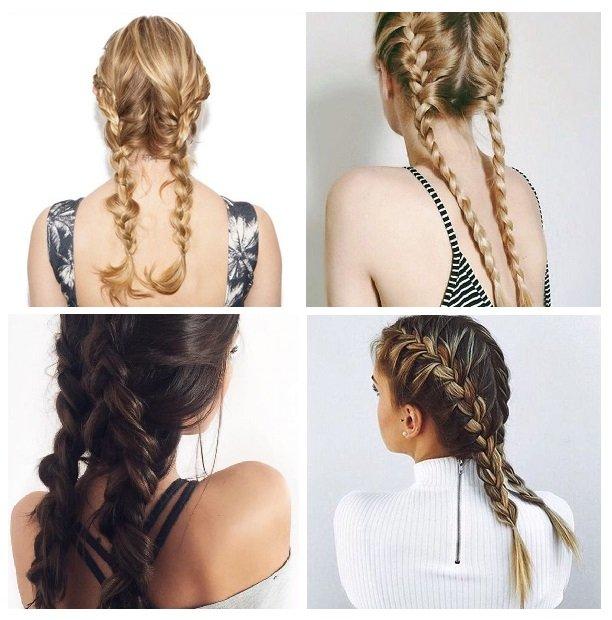 tóc buộc kết hợp thắt bím