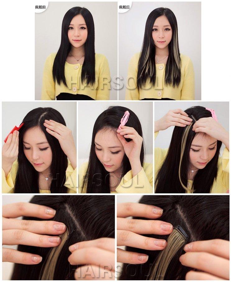 tóc kẹp highlight sành điệu