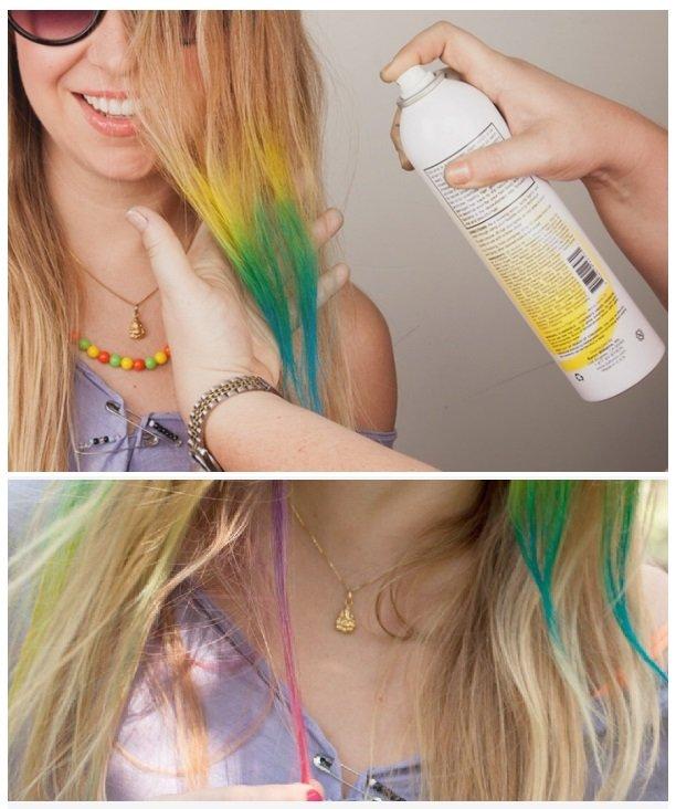 keo xịt màu cho tóc