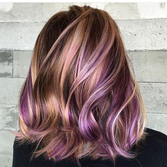 tóc highlight không cần nhuộm